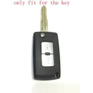 Image 4 - ZAD 2 pulsanti chiave Dellautomobile Del Silicone di Caso Della Copertura di Protezione per Mitsubishi Lancer 10 Outlander 3 Pajero sport auto chiave a distanza accessorio