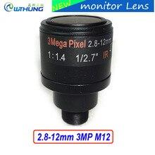 Metal case 1/2.7 inch Varifocal Lens 2.8mm-12mm 3Megapixel M12 Mount For 720P/1080P/3MP IP Camera or AHD/CVI/TVI CCTV Camera
