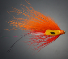 40Pcs Tube Fly Flies Orange Salmon And Sea Trout Fly Fishing Lures