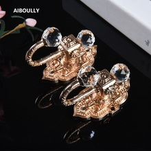 AIBOULLY 2Pcs/set High Quality Fashion Curtain Hooks Holder Hanger Bronze Display Rack Wall Hook decoration Accessories