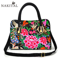 Women Rose Bags Embroidery Bag Rose Red Flower Woman Bag 2017