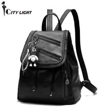 Brand Backpack New Fashion Women Bags High Quality PU Leather School Bag Travel Bag Soft Female Shoulder bag