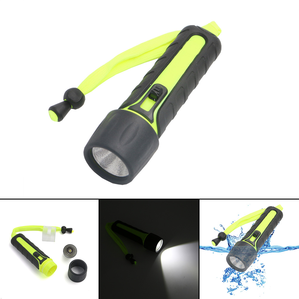LED Diving flashlight Underwater 10m light Torch 1 Mode Waterproof dive Flashlight Lamp Torch lantern hunting Use 4*AA battery archon d10xl 3 mode white diving flashlight underwater 100m torch waterproof led light by 18650 battery for outdoor sports