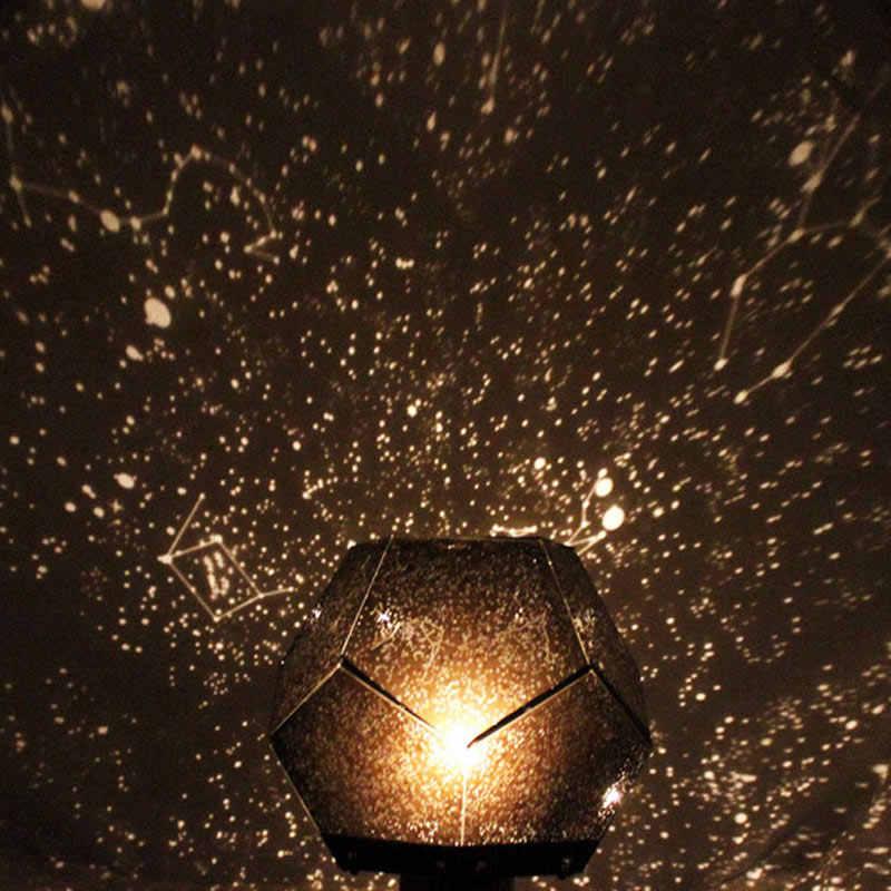 3 цвета романтическая лампа-проектор Звездное Небо звездное небо Проекция Космос свет для спальни дети ребенок подарок AI88