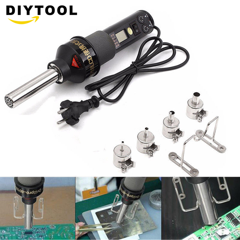 450W 450 Degree LCD Adjustable Electronic Heat Hot Air Gun Desoldering Soldering Station IC SMD BGA