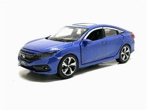 Image 4 - Новинка 1/32 масштаб HONDA 2019 CIVIC симулятор игрушечный автомобиль Металл литье под давлением модель с выдвижной спинкой звуковой светильник детские игрушки подарок на день рождения