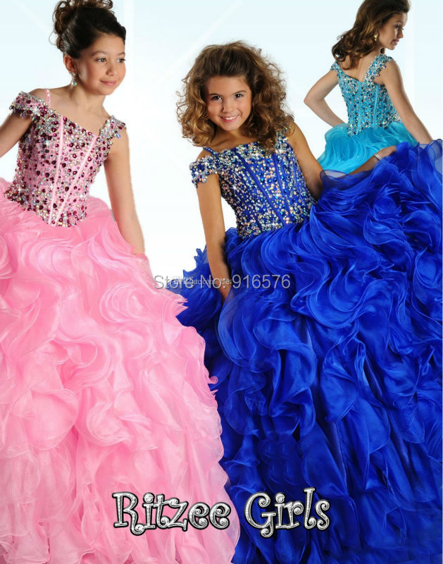 Girls Dresses For Party Girls Pageant Ball Gown Baby Ball Dress Pink