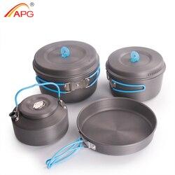 APG ultralekkie patelnie do gotowania na kempingu i przenośne naczynia kempingowe