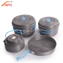 APG ultralight camping cooking pans and portable camping cookware