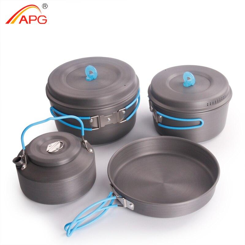 APG 超軽量キャンプ調理鍋ポータブルキャンプ調理器具  グループ上の スポーツ & エンターテイメント からの 屋外用食器 の中 1