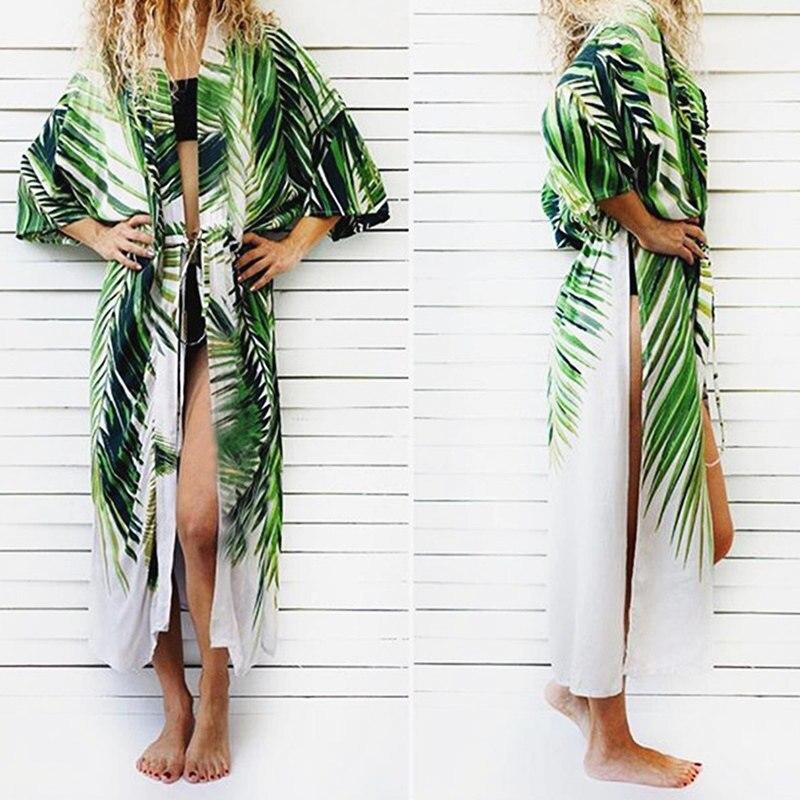 NODELAY Printed Cover Up Beach Women 2018 Cotton Kaftan Beach Tunic Dress Plus Size Pareo Bikini Cover Up Swimwear Robe de Plage striped tunic dress beach cover up with sleeves