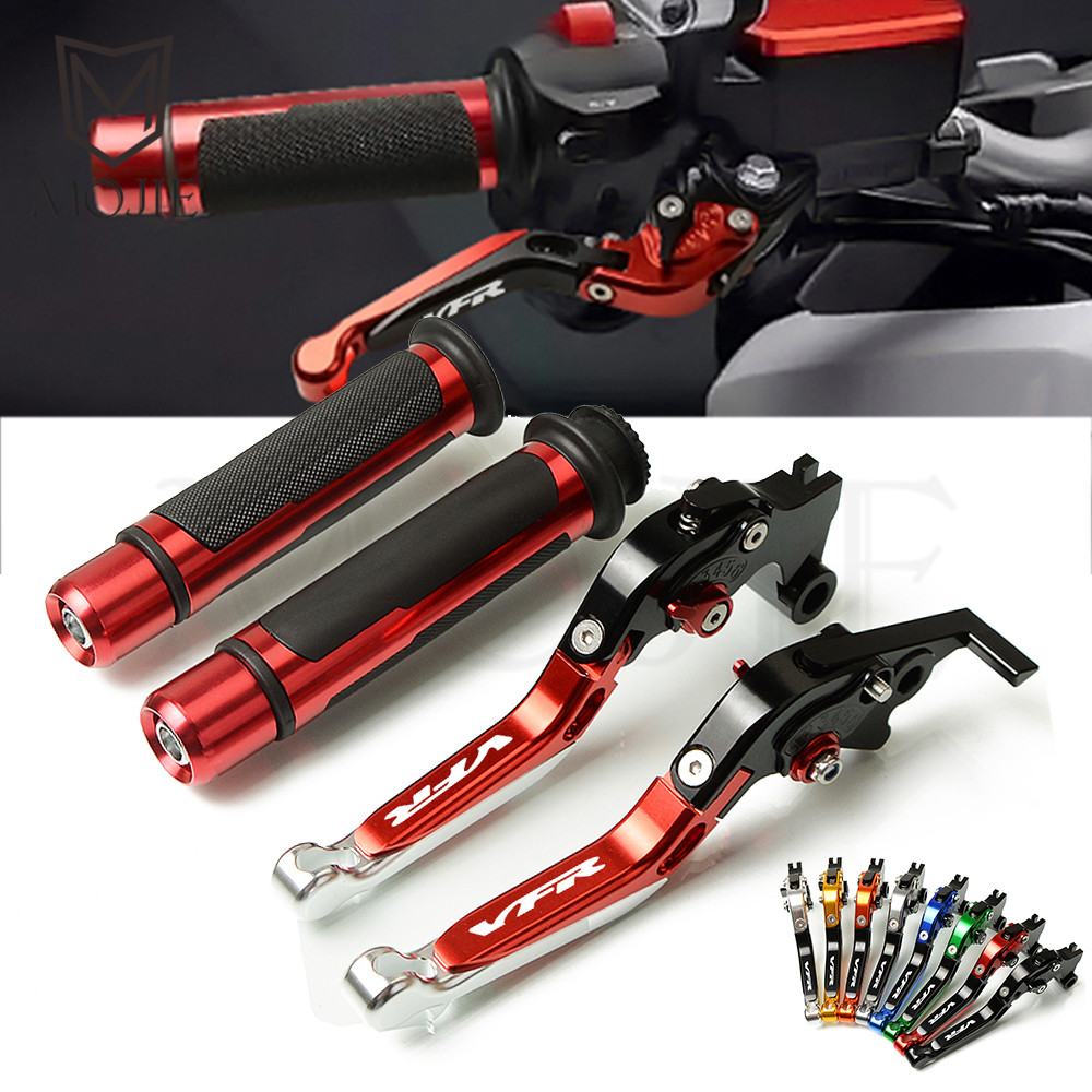 For Honda VFR800 VFR 800 VTEC 2002 2008 2003 2004 2005 2006 2007 Motorcycle CNC Adjustable Brake Clutch Lever Handle Grips Set-in Levers, Ropes & Cables from Automobiles & Motorcycles    1