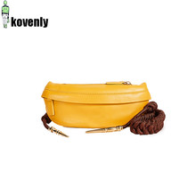 Women Chest Bags Fashion Weaving Belt Leather Messenger Bag Casual Shoulder Bag Female Zipper Phone Wallet Waist Packs 183(China)