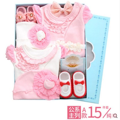 2018 Hot sale Cotton Newborn Kids Baby Boy Girl Romper Floral Printed Toddler Kids Jumpsuit Clothes baby romper gift set box цена