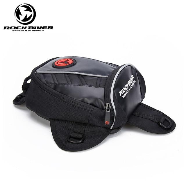 Rock Biker Waterproof Motocycle Magnet Tank Bag Multifunction Motorcycle Luggage Rider Motocross Saddle Bags For