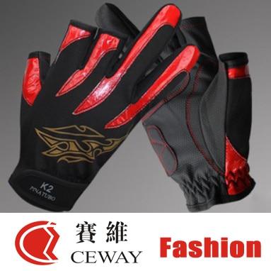 Bezprstý rybolov venkovní sportovní rukavice Pohodlné PU protiskluzové rybářské rukavice Netslip rukavice Rukavice odolné proti skluzu 2019