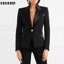 Autumn Suit For Women Slim Blazer Coat Casual Elegant Jacket Full Sleeve One But