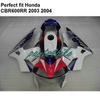 ABS plastic fairing for Honda CBR 600RR F5 fairings kit CBR600RR 2003 2004 red white black BM02