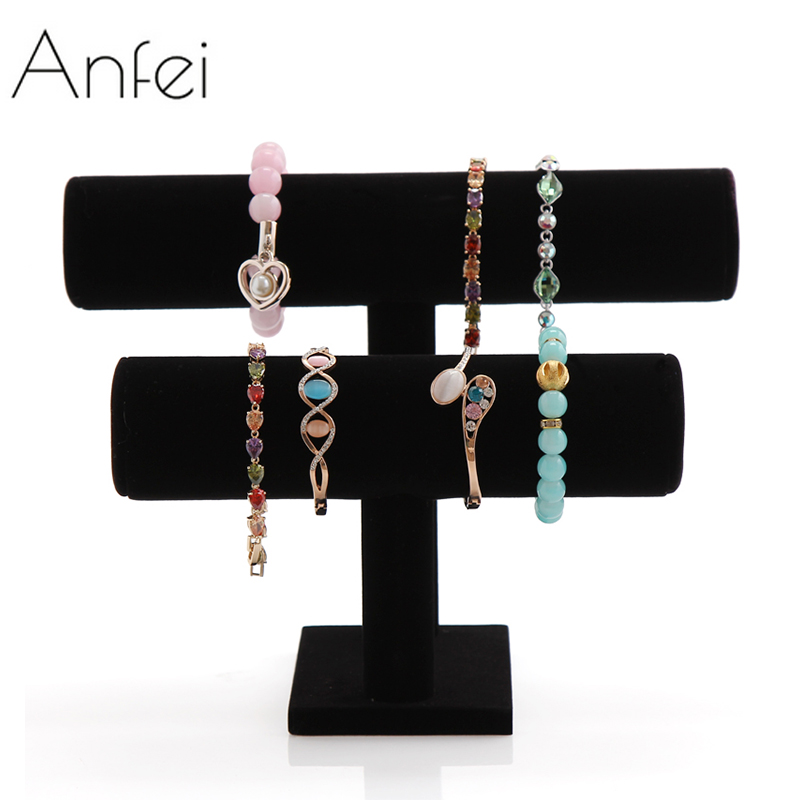Bracelet Display Shelf Removable Double Layer Headbands Holder Bracelet Organizer Watches Holder Bangle Storage Rack A69