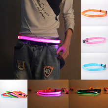 40-100CM LED Luminous Belt Nylon Buckle Horse Racing Riding Outdoor Running Jogging Skating Safety Warning Equipment