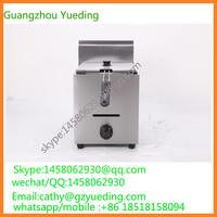 Table Top Gas French Fries Potato Chip Fryer For Sale/single basket gas deep fryer/Gas Frying Chicken Machine