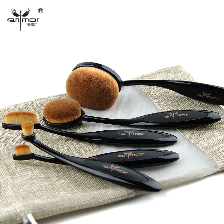Oval Makeup Brush Professional Foundation Set MULTIPURPOSE Powder Eye Shadow