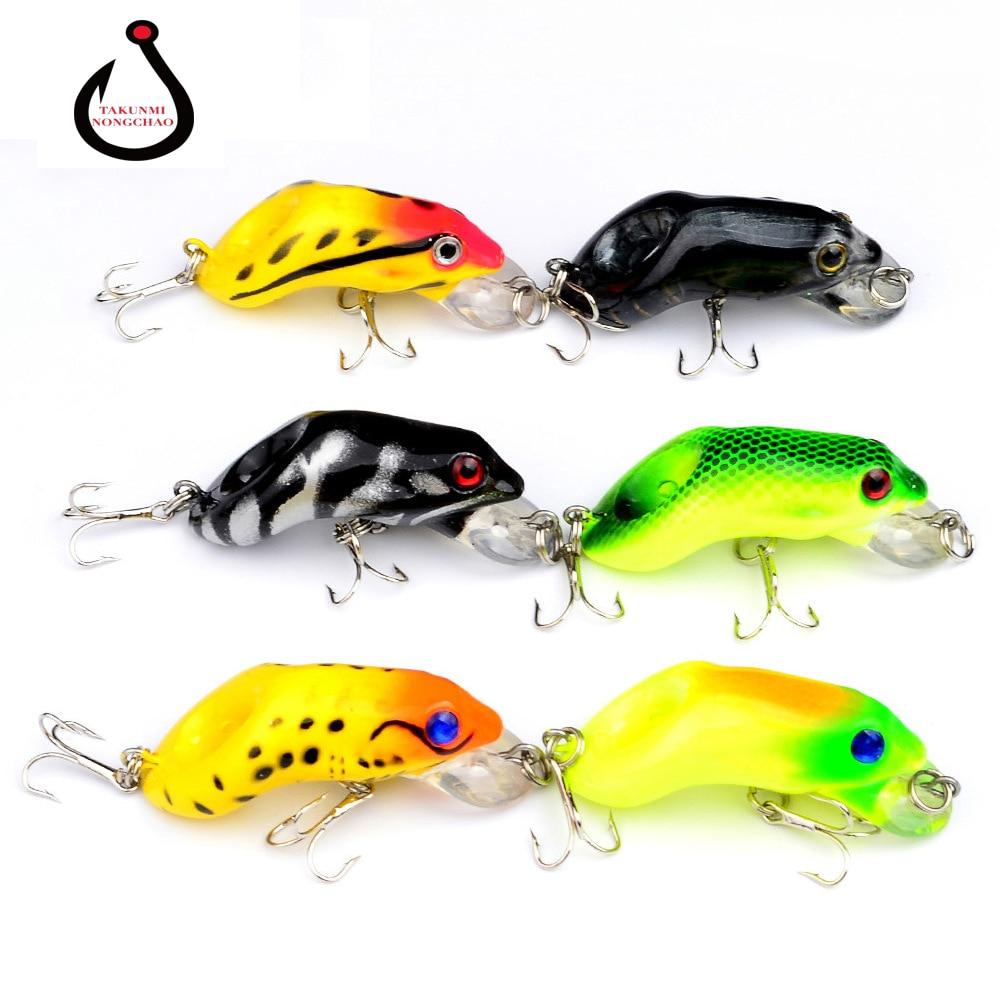 1PC Soft Tube Bait Plastic Fishing Lures Frog Lure Treble Hooks Topwater Ray Frog 5.5CM 8.8G Artificial Soft Bait ZG-35