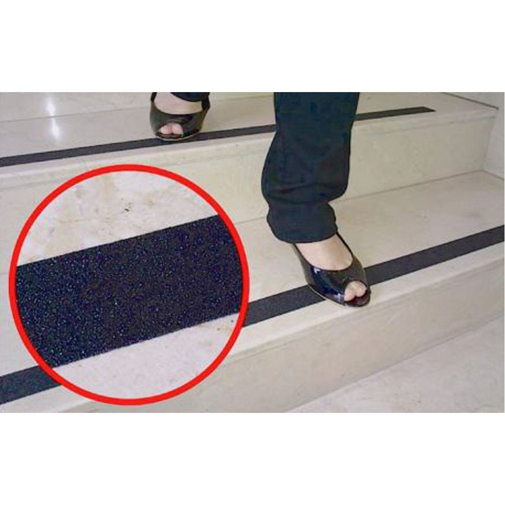 Roll Of Anti Slip Tape Stickers For Stairs Decking Strips For Stair Floor  Bathroom Self Adhesive(Black)