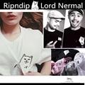 Ripndip Lord Nermal T-shirts Men Women High Quality 1:1 Hip Hop Cotton Brand Clothing Fashion Pray Pocket Cat Ripndip Tees-shirt