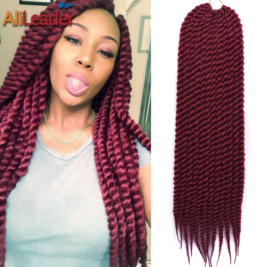 Burgundy Braiding Hair 12/22 12Roots/Pack Freetress Crochet Braid...