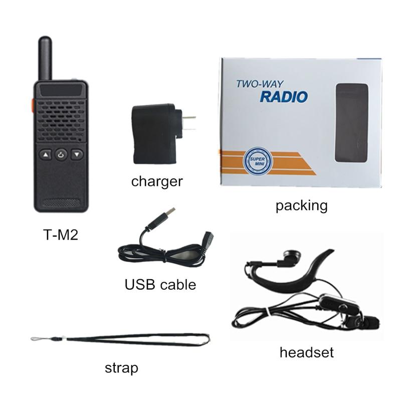 Image 5 - 2pcs  Handheld T M2 Children Two Way Radio 128 Channels M2 PMR Mini Talkie Walkie Super Tiny FRS/GMRS Walki Talki-in Walkie Talkie from Cellphones & Telecommunications