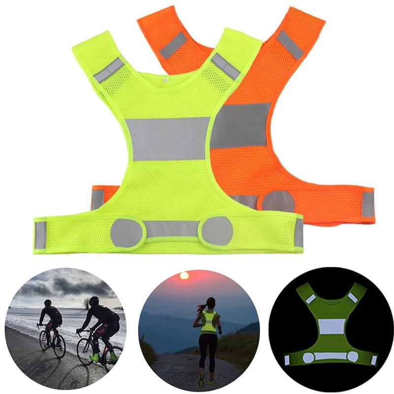 Alta visibilidade colete reflexivo unisex coletes de segurança ao ar livre ciclismo colete de trabalho dos homens noite correndo esportes ao ar livre roupas femininas
