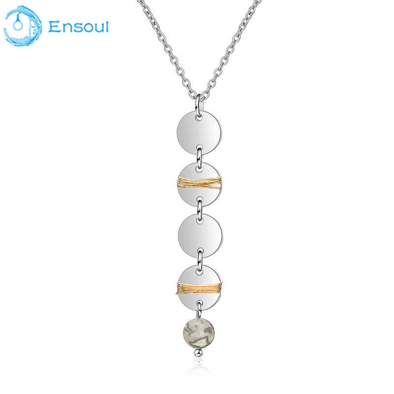 Ensoul Chain pendant alloy around the copper wire hanging beads necklace and pendant ladies charm lady jewelry EN-0053
