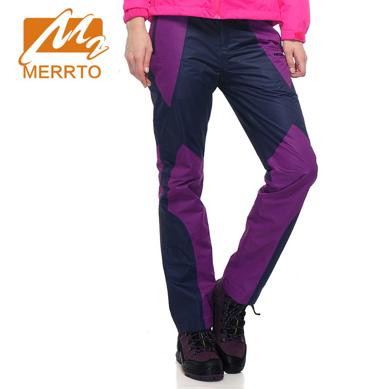MERRTO Winter Women's Waterproof Windproof Outdoor Pants Snow Pants Keep Warm Fleece Trousers Breathable Ultra-light Pants