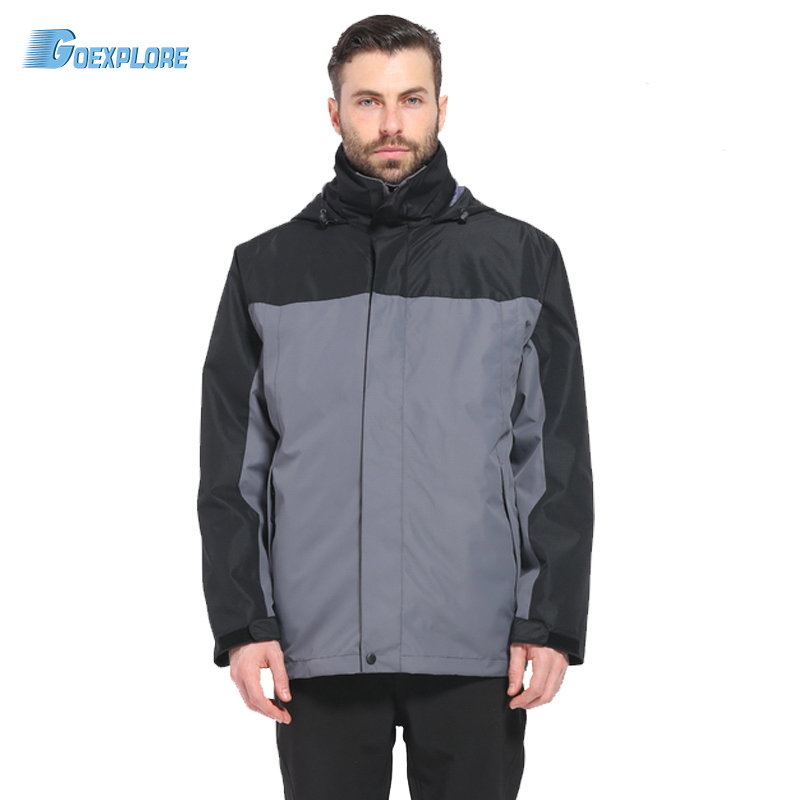 ФОТО Dropshipping Brand outdoor 3in1 Coat Jacket Men Winter Hunting Clothes Windproof Hiking Jackets Coat Camping Overcoat