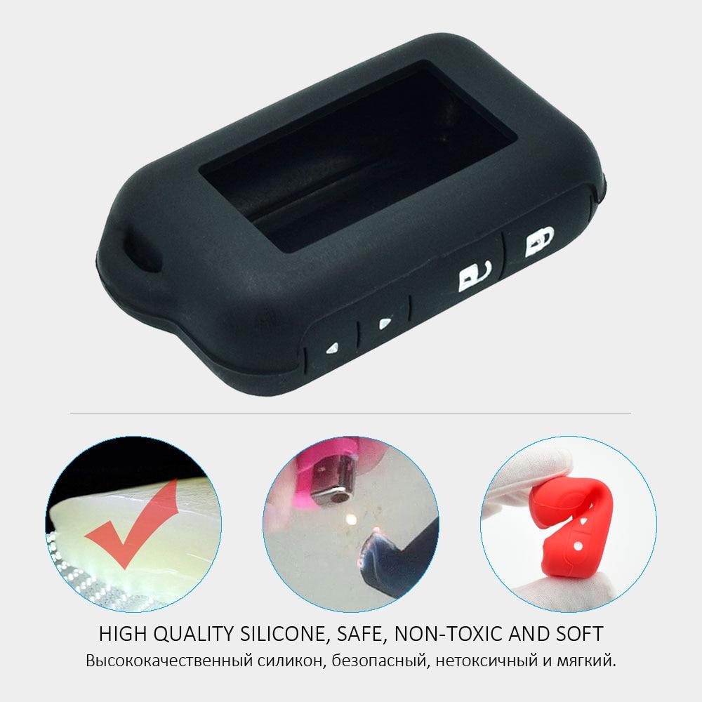 ATOBABI E90 E91 Funda de silicona para alarma de automóvil de 2 - Accesorios de interior de coche - foto 3