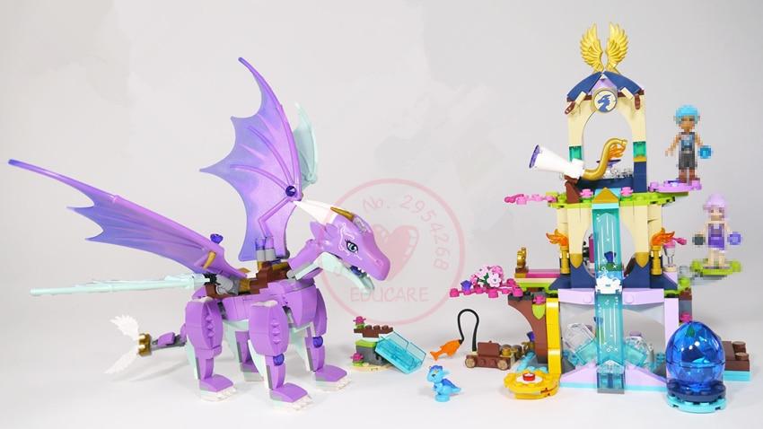 New Elves fairy Dragon Sanctuary building Blocks Bricks Toys 41178 - Mainan pembinaan - Foto 1