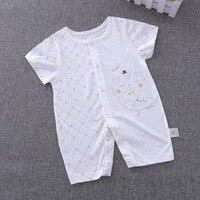 Baby Rompers Summer 2017 Newborn Baby Boy Girl Clothes Novelty Cartoon Short Sleeves 1 9 Months