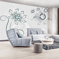 Custom 3D Print Fabric Textile Wallcoverings For Walls Cloth Murals Washable Matt Silk For Living Room