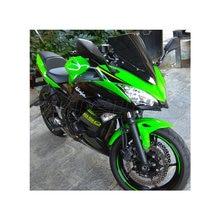 Мотоцикл двойной пузырь ветрового стекла экран для Kawasaki Ninja 650 EX EX650 ABS K KRT Edition черный