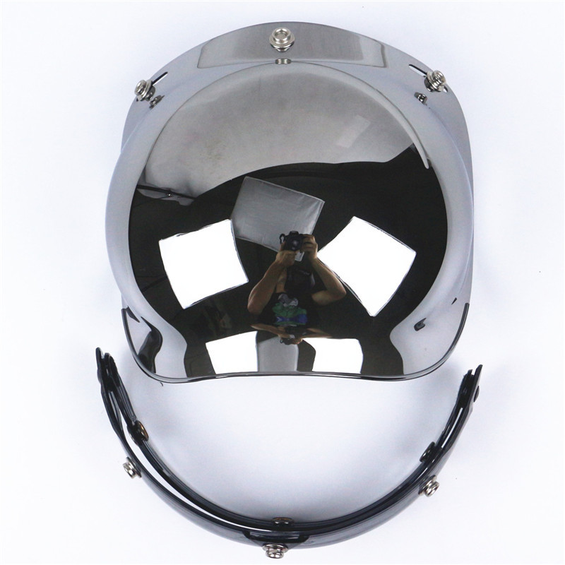 Hot sale viseira bolha for 3 snap vintage motorcycle helmet bubble shield open face scoo ...