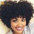 Перуанский Девственные волосы Курчавые Вьющиеся 3 пучки сделок Afro Kinky Вьющихся волос 100 Человеческих Волос соткет оптовая дешевые