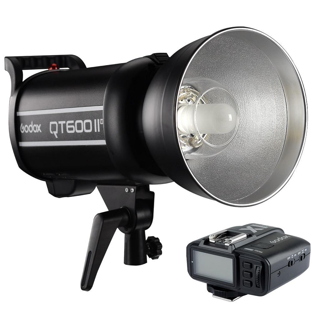 Godox QT600IIM QT600II Cabeça do Flash HSS 600Ws 1/8000s Alta Velocidade Sync Luz Estroboscópica Com X1 Transmissor Para sony Câmera Canon