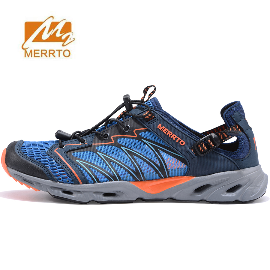 MERRTO Men's Summer Outdoor Aqua Water Shoes Sneakers For Men Sports Hiking Trekking Fishing Shoes SneakerMountain Man merrto 2016 new brand women beach water aqua shoes upstream fishing wading shoes water breathable sneakers 18376 1
