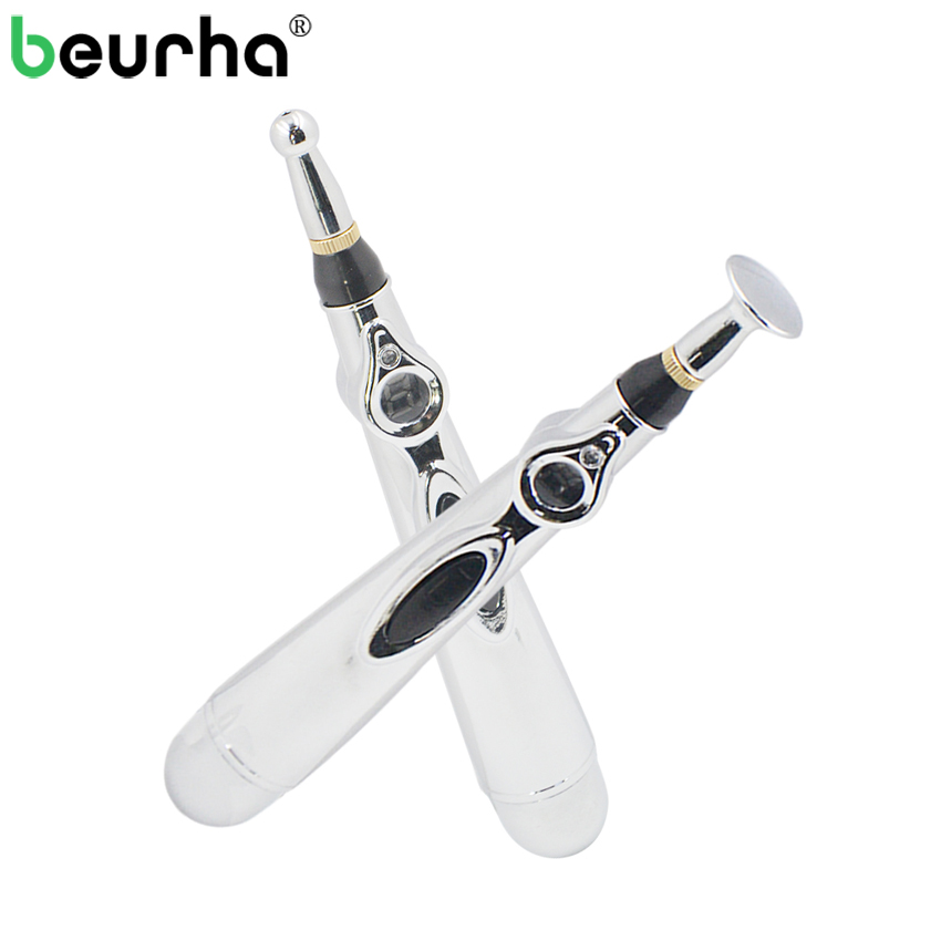 Beurha Lowest Price Meridian Acupuntura Energy Pen Pain Relief Therapy AA Battery Electric Acupuncture Point Body Massage Pen