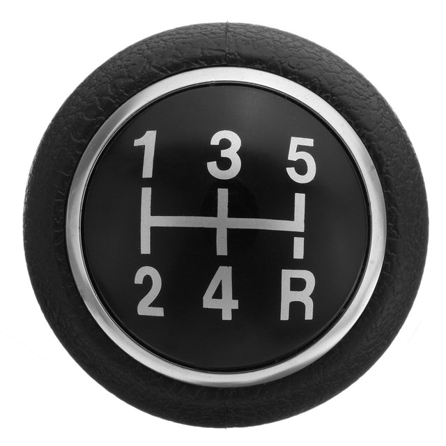 1 Set 5 Speed Manual Car Gear Shift Knob with Gear Shift Knob Sleeve Adapter Lever For Peugeot 106 206 306 406 806 107 207 307