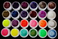 24 PCS Glitter Mix Color UV Builder Gel Acrylic Set for Nail Art Tips 2018