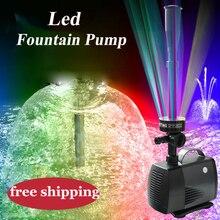 40W 45W zmiana LED akwarium pompa głębinowa ogród ryba fontanna stawowa pompa Led oświetlenie fontanny Maker