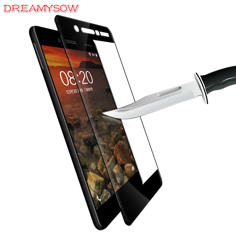 9H Full Cover Tempered Glass For Nokia 8 7 Plus 6 5 3 2 Ultra thin Full Coverage Film For Nokia 6 2018 Black Screen Protector nokia 8 new 2018
