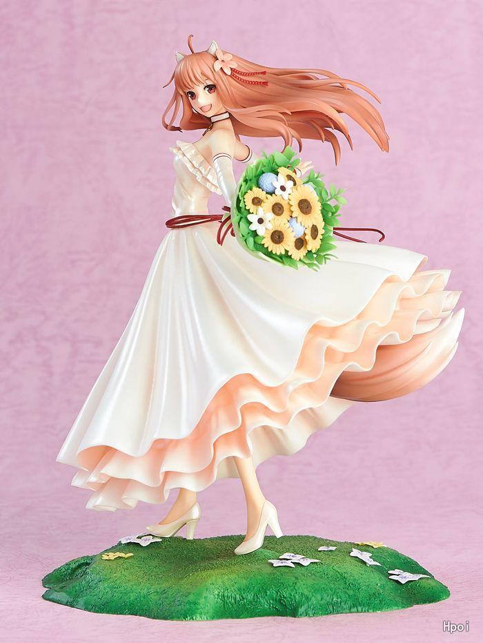 24 CM japonais sexy anime figure marchand viandes épicé loup épice 10th anniversaire Holo robe de mariée ver figurine d'action